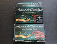 Anchoas del cantábrico en aceite de oliva Ría de Santoña (Serie Oro)