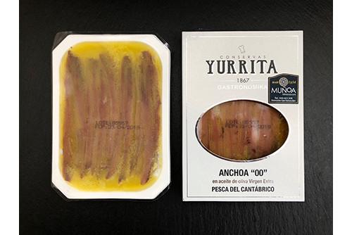 "Anchoas del cantábrico en aceite de oliva virgen extra Yurrita ""00"""