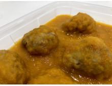 Albóndigas de ternera en salsa
